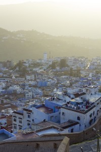 Chefchaouen from above, around sunset